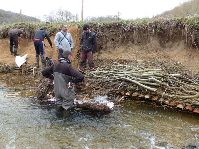 Aménagement d'une cache à poisson garantissant une eau fraîche pour la faune piscicole.