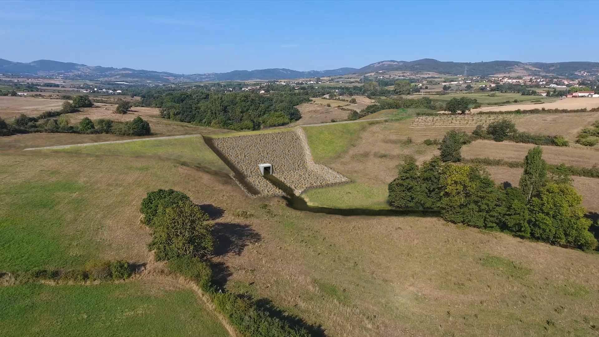 Projet d'ouvrage de protection contre les inondations sur le Garon.