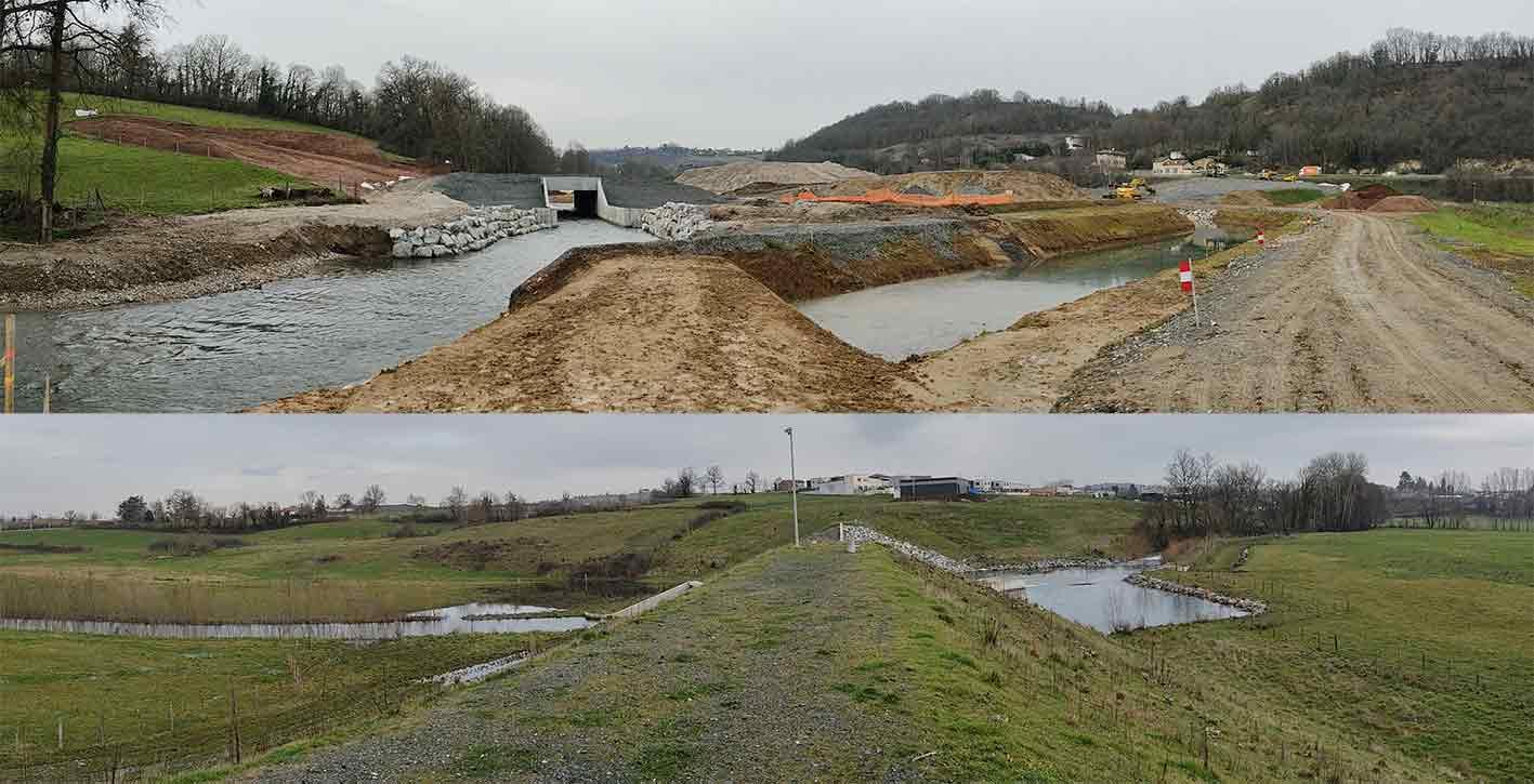 Réalisation d'un ouvrage écrêteur de crue sur la rivière Turdine (bassin versant Brévenne-Turdine)