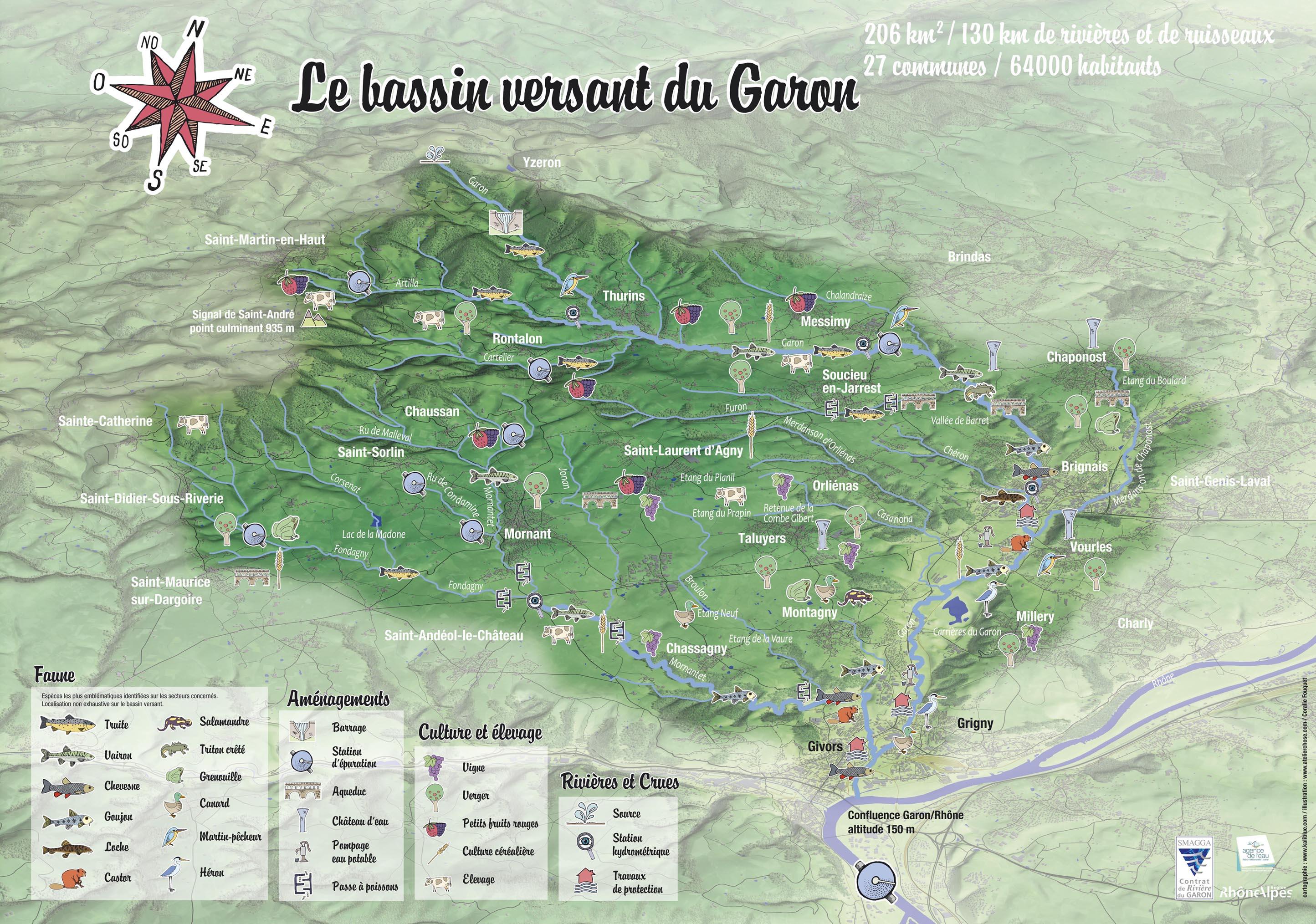 Découvrer la nouvelle carte du bassin versant du Garon