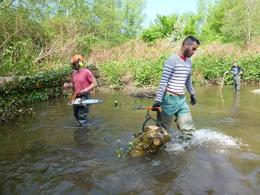 21 km de berges entretenus par la brigade de rivière en 2015