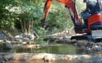 Amélioration de l'habitat piscicole sur le Garon à Brignais