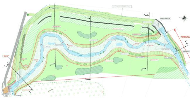 Plan de la future rivière de contournement.