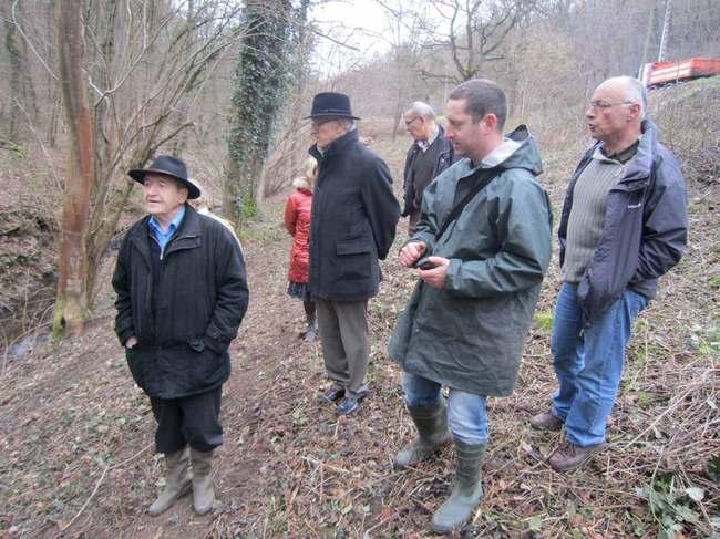 Visite de terrain des élus de Brignais et Orliénas le 24 janvier 2012.