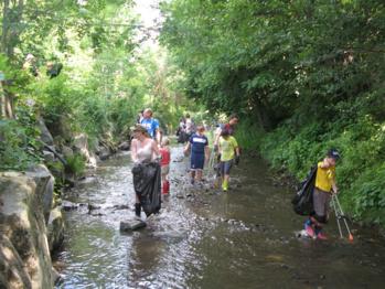 Nettoyage du Garon à Brignais