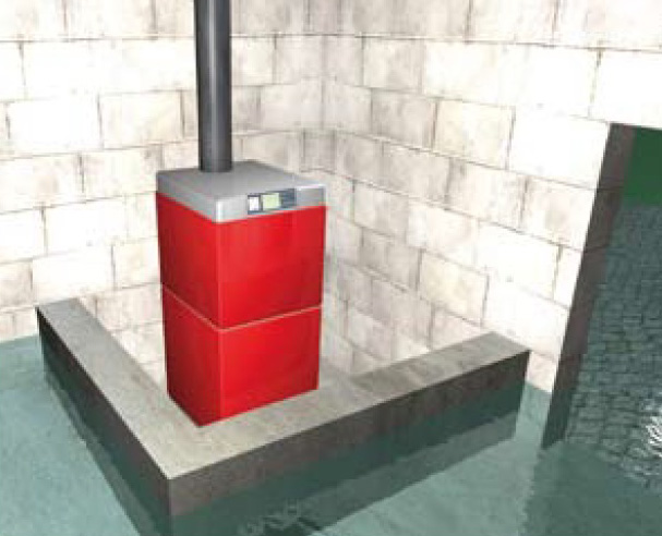 Protection d'un équipement de chauffage par une barrière permanente.