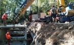 Amélioration hydraulique sur le Merdanson de Chaponost